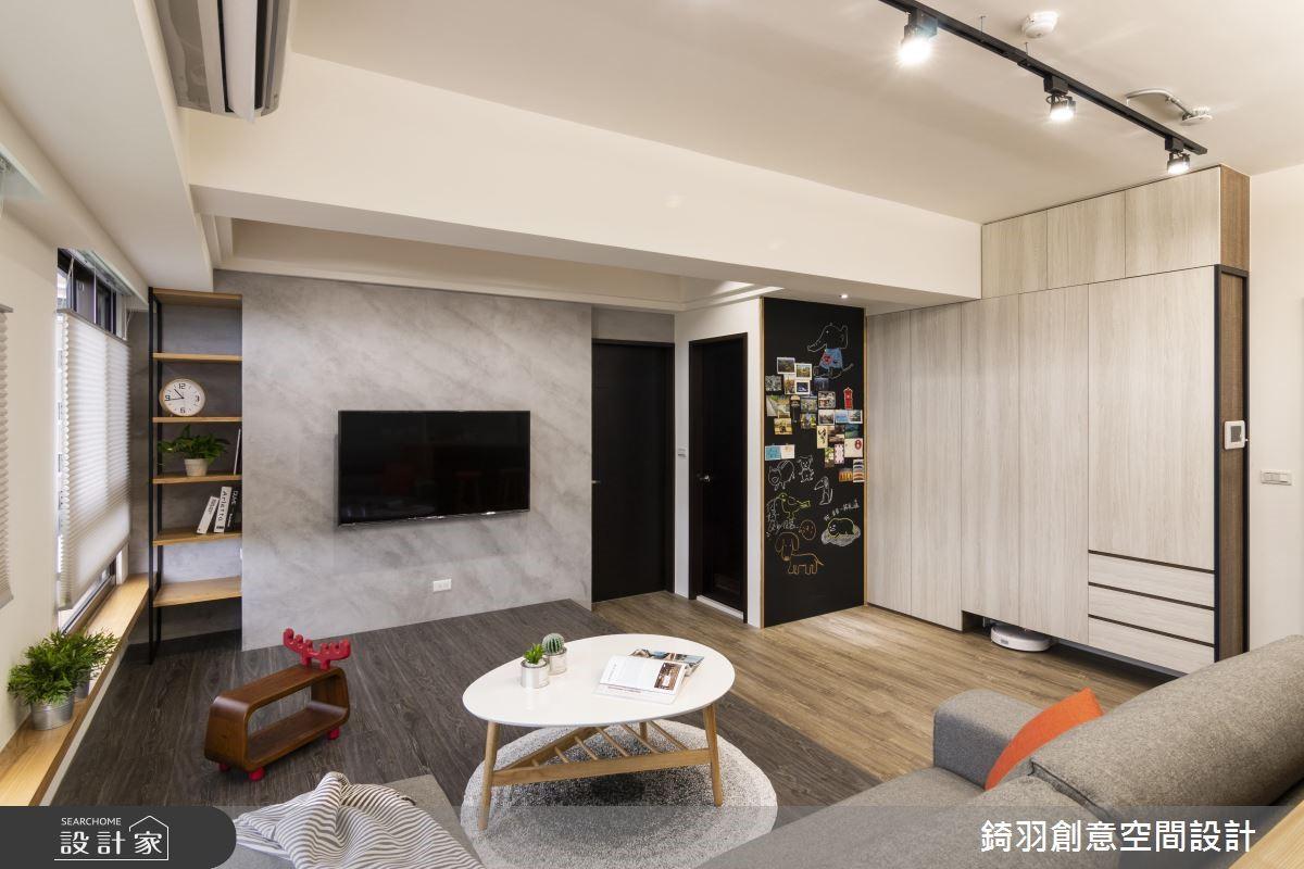 15坪新成屋(5年以下)_工業風客廳案例圖片_錡羽創意空間設計_錡羽_21之2