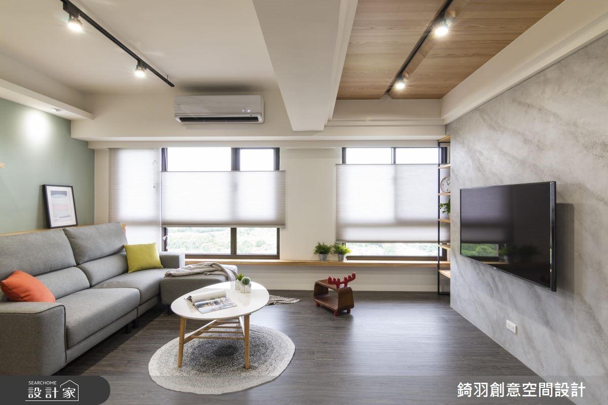 15坪新成屋(5年以下)_工業風客廳案例圖片_錡羽創意空間設計_錡羽_21之5