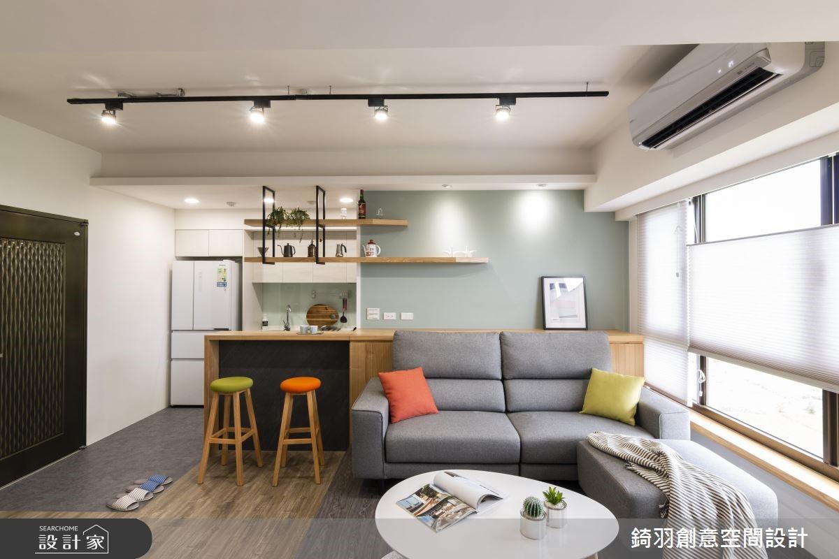 15坪新成屋(5年以下)_工業風客廳案例圖片_錡羽創意空間設計_錡羽_21之3
