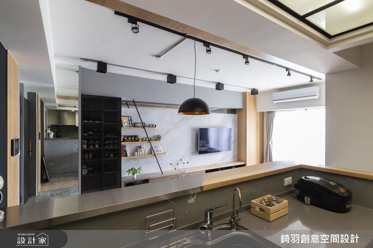 25坪預售屋_工業風廚房案例圖片_錡羽創意空間設計_錡羽_24之8