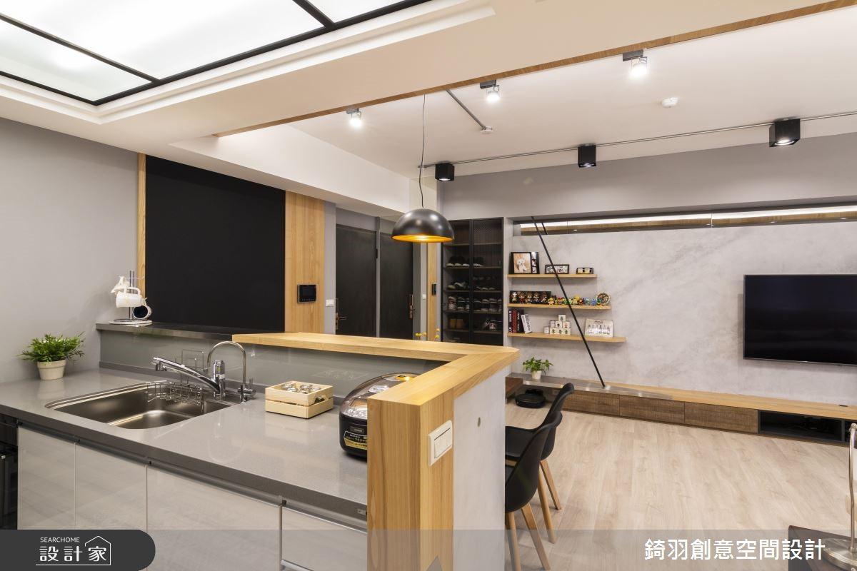 25坪預售屋_工業風廚房案例圖片_錡羽創意空間設計_錡羽_24之7