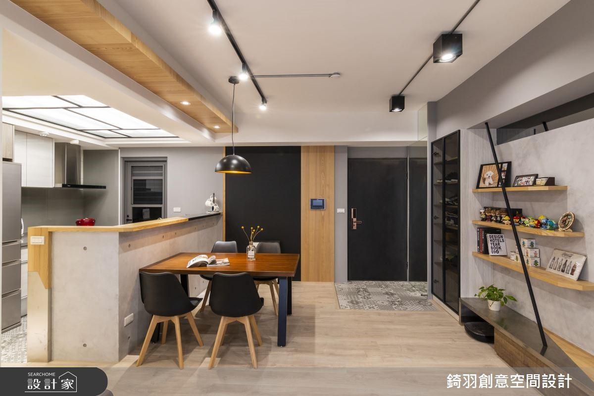 25坪預售屋_工業風餐廳案例圖片_錡羽創意空間設計_錡羽_24之4