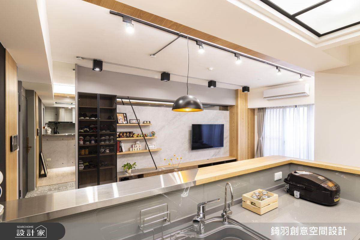 25坪預售屋_工業風廚房案例圖片_錡羽創意空間設計_錡羽_24之9