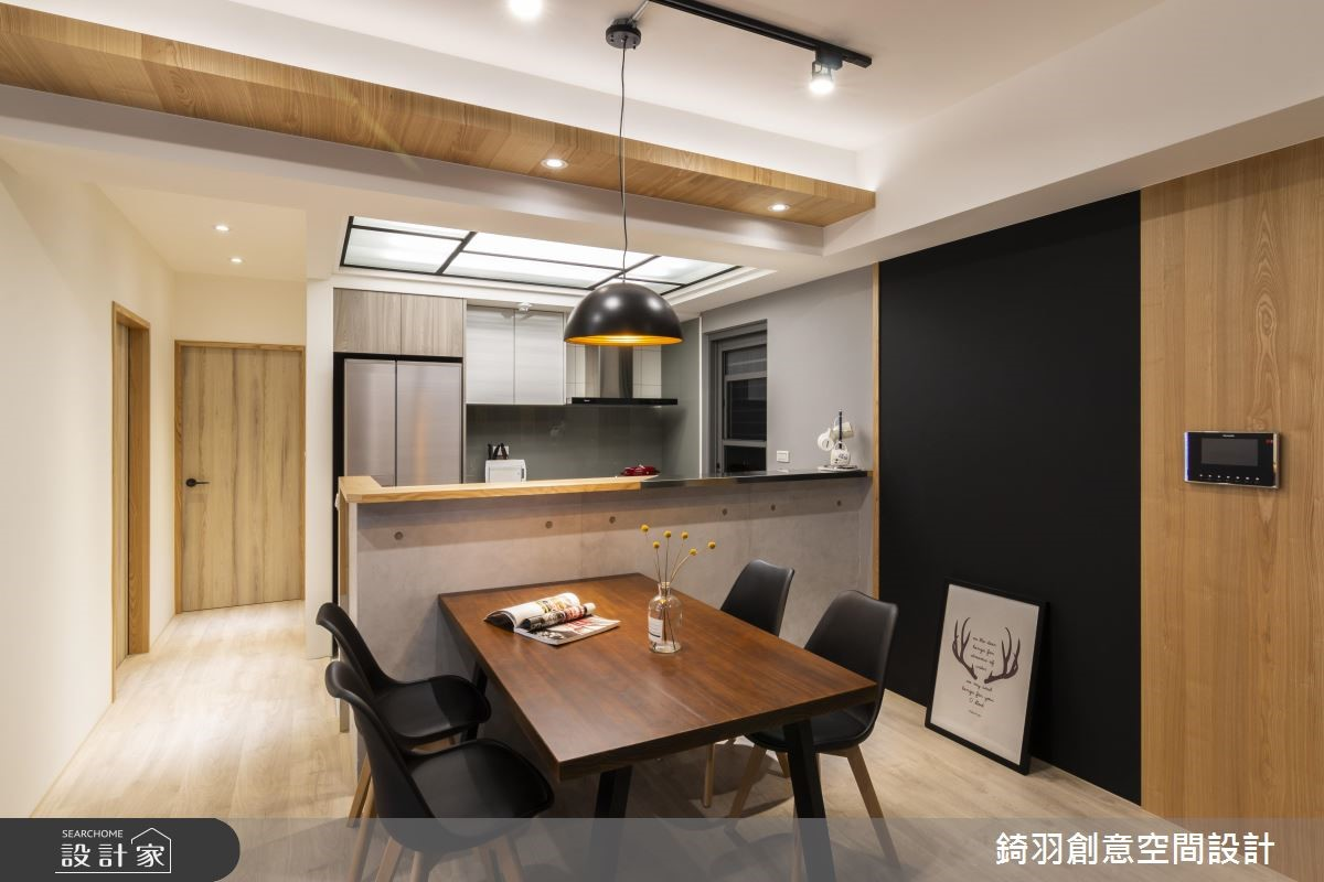 25坪預售屋_工業風餐廳案例圖片_錡羽創意空間設計_錡羽_24之5