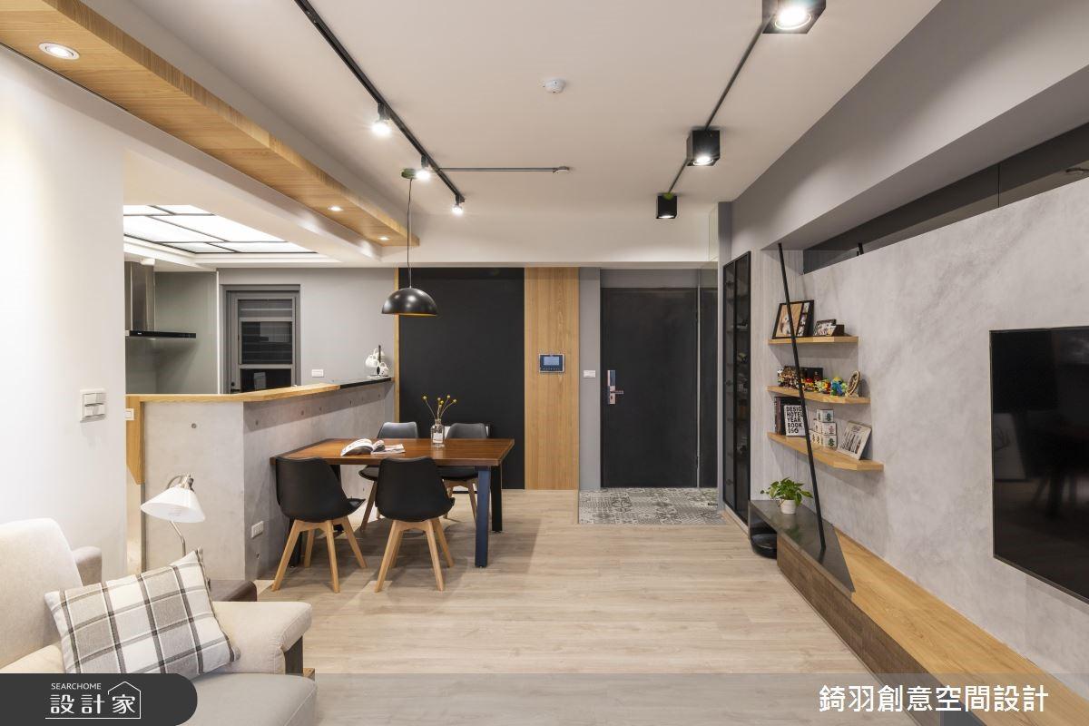 25坪預售屋_工業風餐廳案例圖片_錡羽創意空間設計_錡羽_24之3