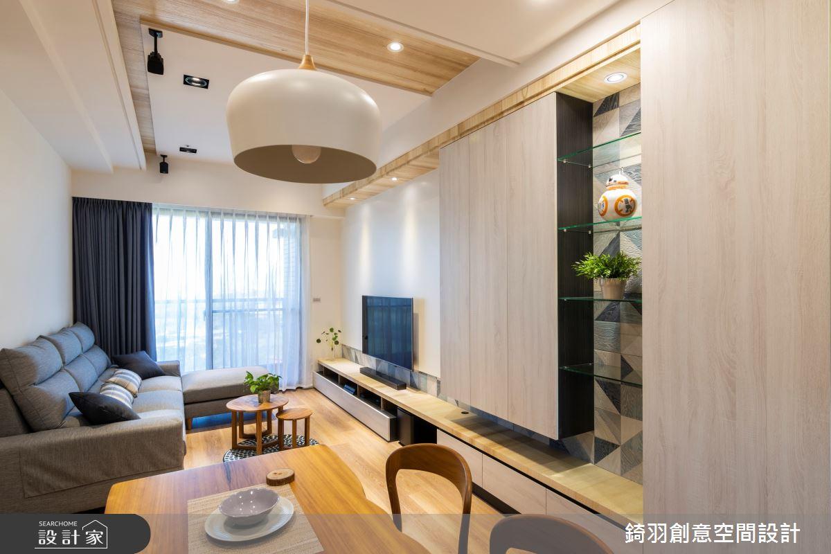 25坪新成屋(5年以下)_簡約風客廳案例圖片_錡羽創意空間設計_錡羽_25之1