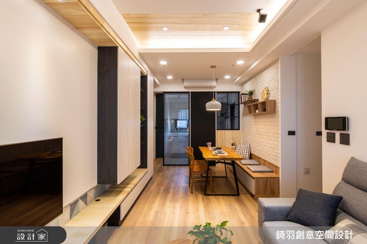25坪新成屋(5年以下)_簡約風餐廳案例圖片_錡羽創意空間設計_錡羽_25之3