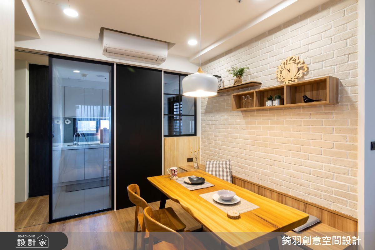 25坪新成屋(5年以下)_簡約風餐廳案例圖片_錡羽創意空間設計_錡羽_25之4