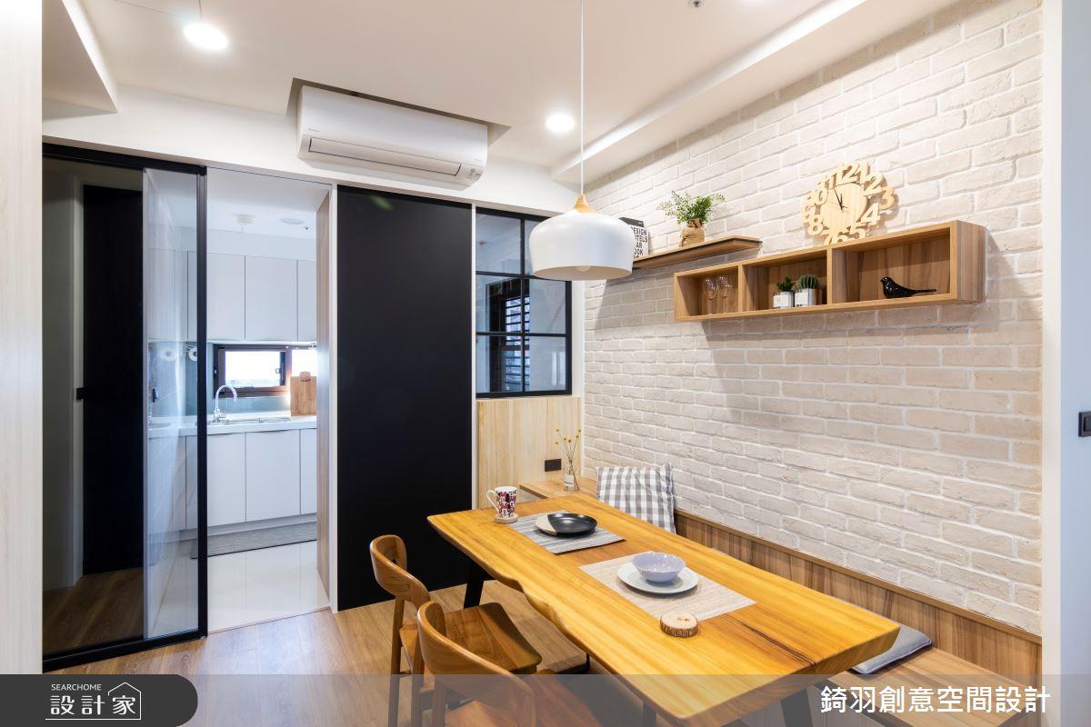25坪新成屋(5年以下)_簡約風餐廳廚房案例圖片_錡羽創意空間設計_錡羽_25之5