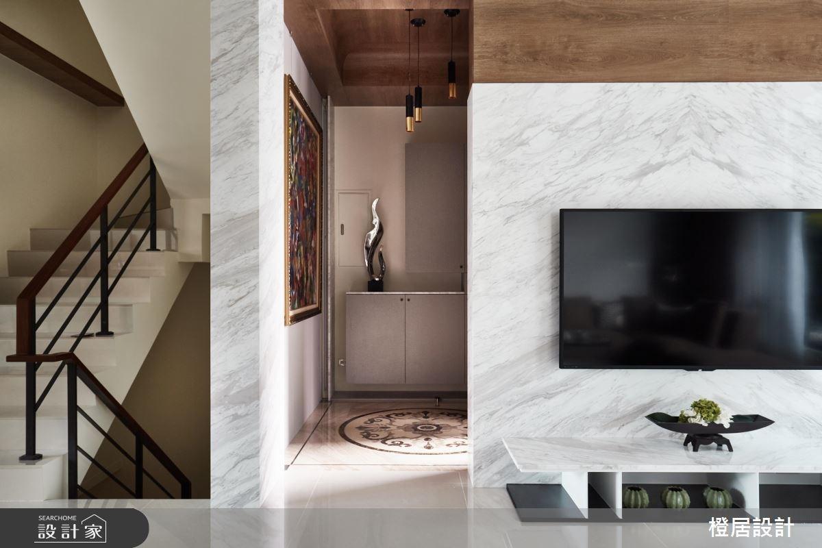 130坪新成屋(5年以下)_混搭風客廳案例圖片_橙居空間設計有限公司_橙居_04之3