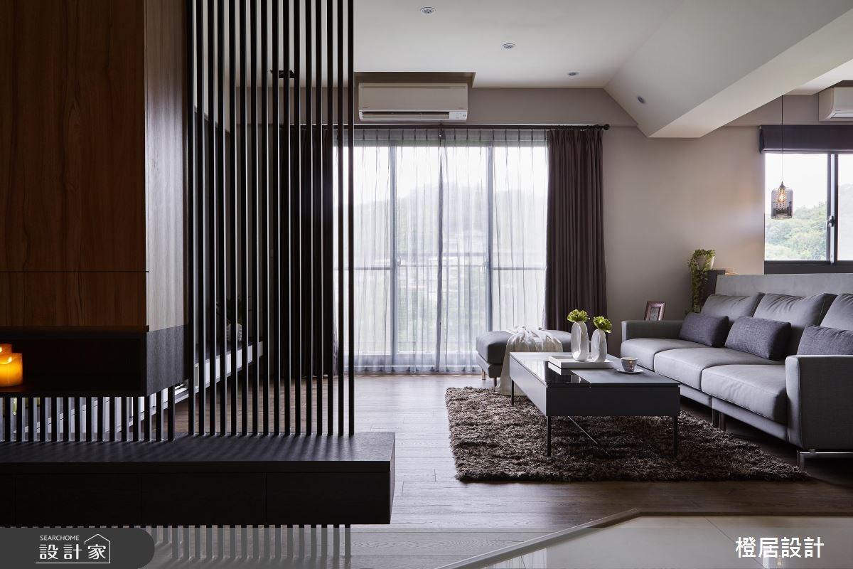 32坪新成屋(5年以下)_現代風客廳案例圖片_橙居空間設計有限公司_橙居_05之3
