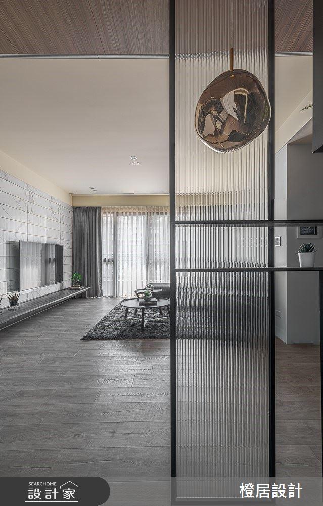 33坪新成屋(5年以下)_現代風玄關客廳案例圖片_橙居空間設計有限公司_橙居_08之3