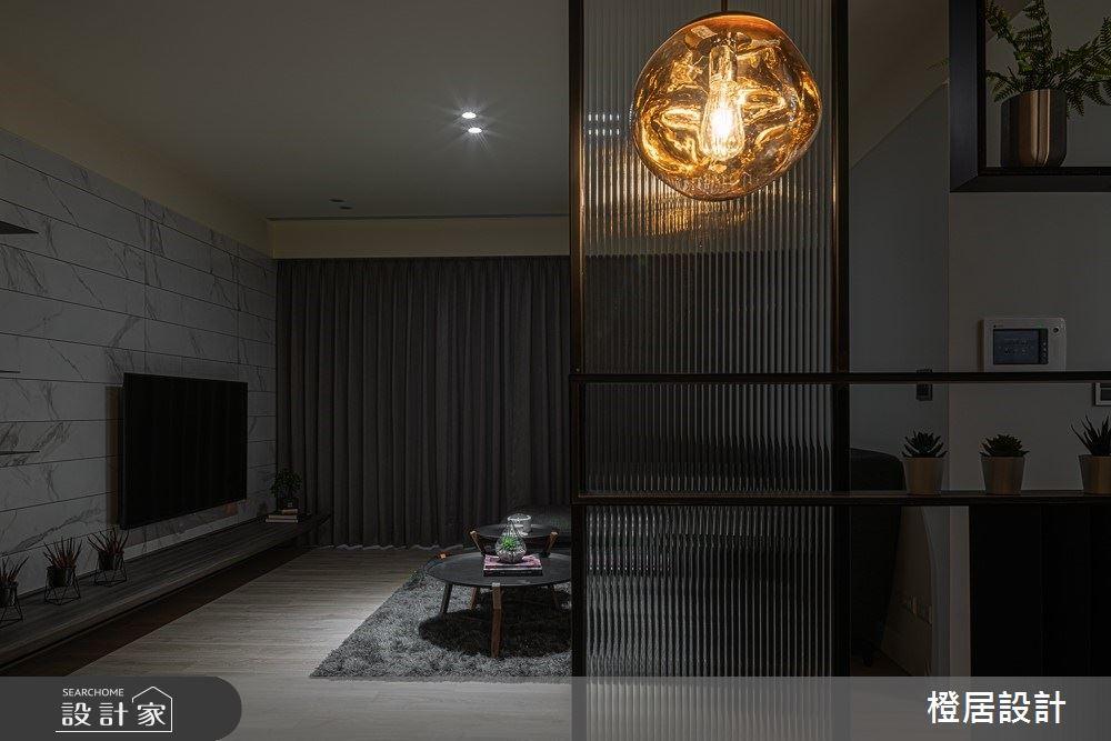 33坪新成屋(5年以下)_現代風玄關客廳案例圖片_橙居空間設計有限公司_橙居_08之4