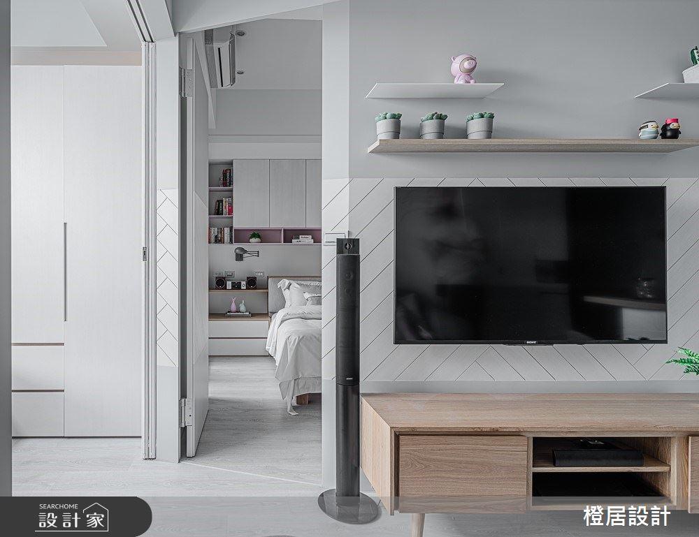 15坪新成屋(5年以下)_北歐風客廳臥室案例圖片_橙居空間設計有限公司_橙居_09之12
