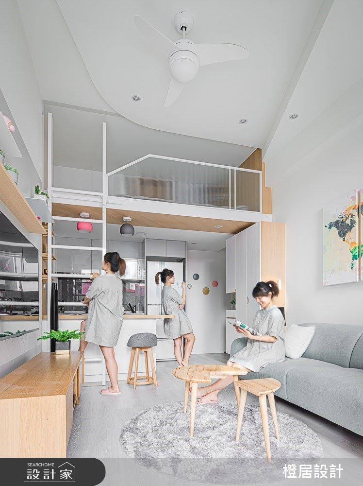 15坪新成屋(5年以下)_北歐風客廳案例圖片_橙居空間設計有限公司_橙居_09之3