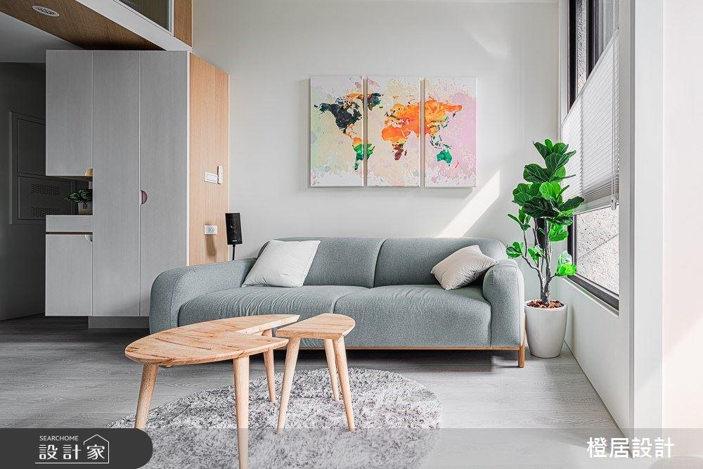 15坪新成屋(5年以下)_北歐風客廳案例圖片_橙居空間設計有限公司_橙居_09之4
