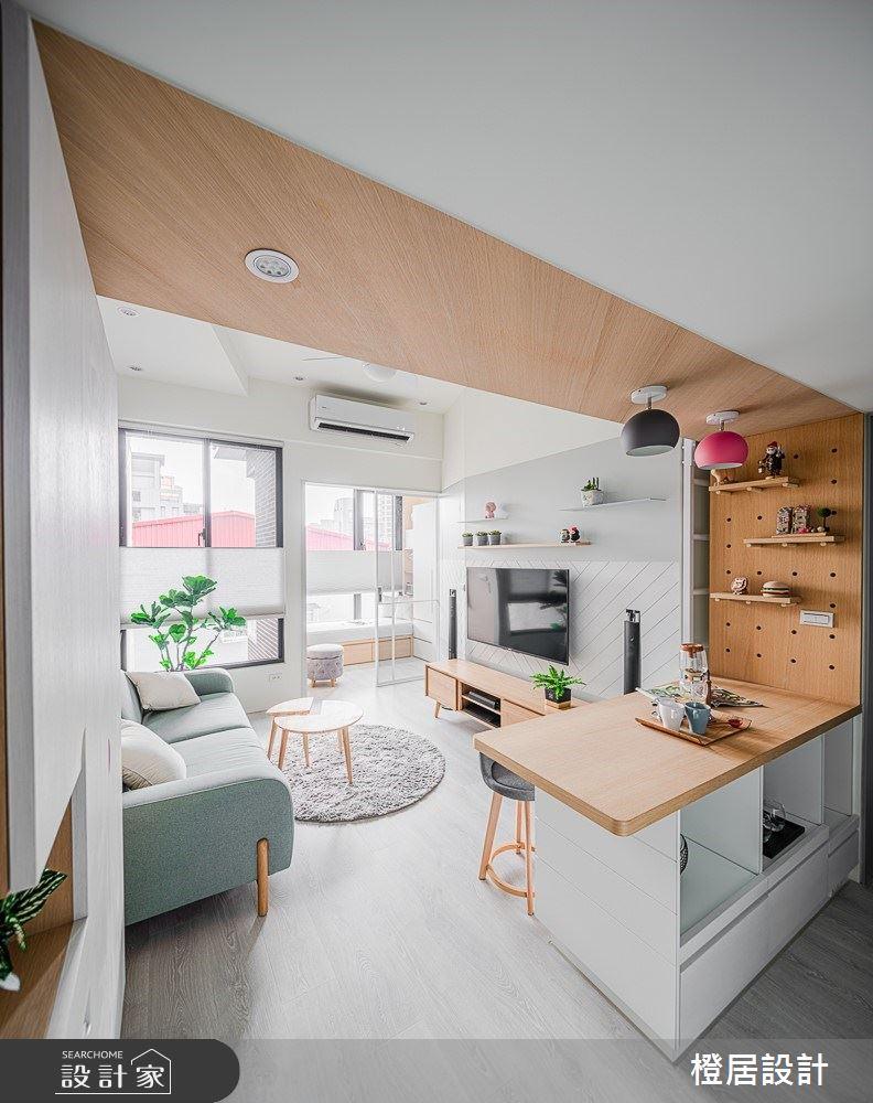 15坪新成屋(5年以下)_北歐風客廳吧檯案例圖片_橙居空間設計有限公司_橙居_09之8