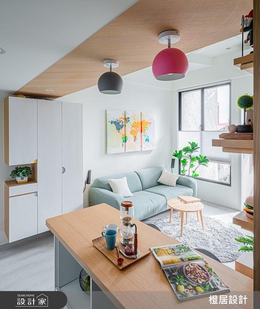 15坪新成屋(5年以下)_北歐風客廳吧檯案例圖片_橙居空間設計有限公司_橙居_09之9