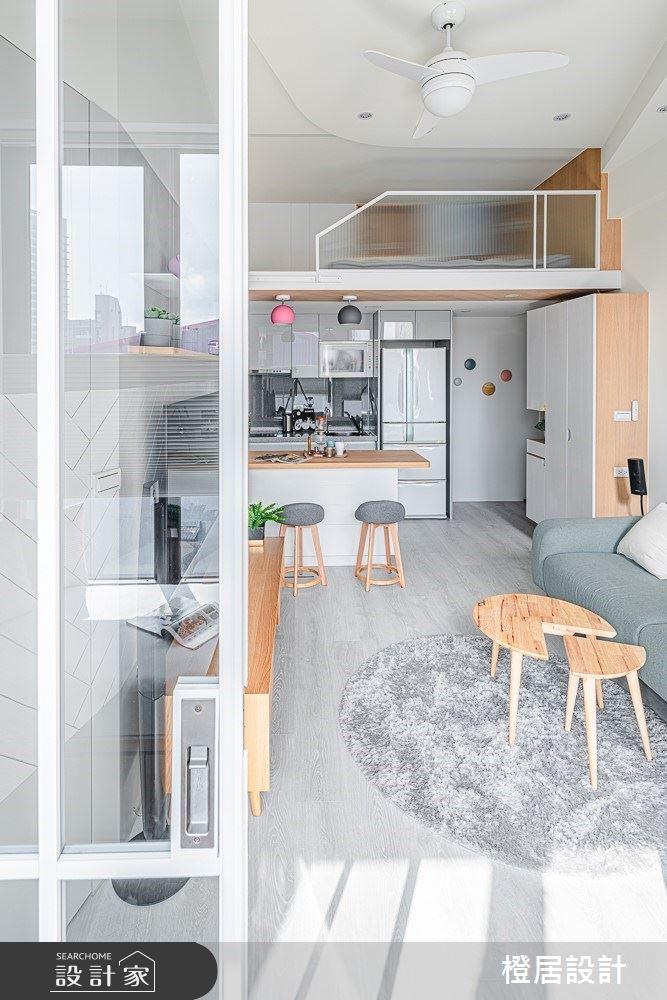 15坪新成屋(5年以下)_北歐風客廳吧檯案例圖片_橙居空間設計有限公司_橙居_09之6