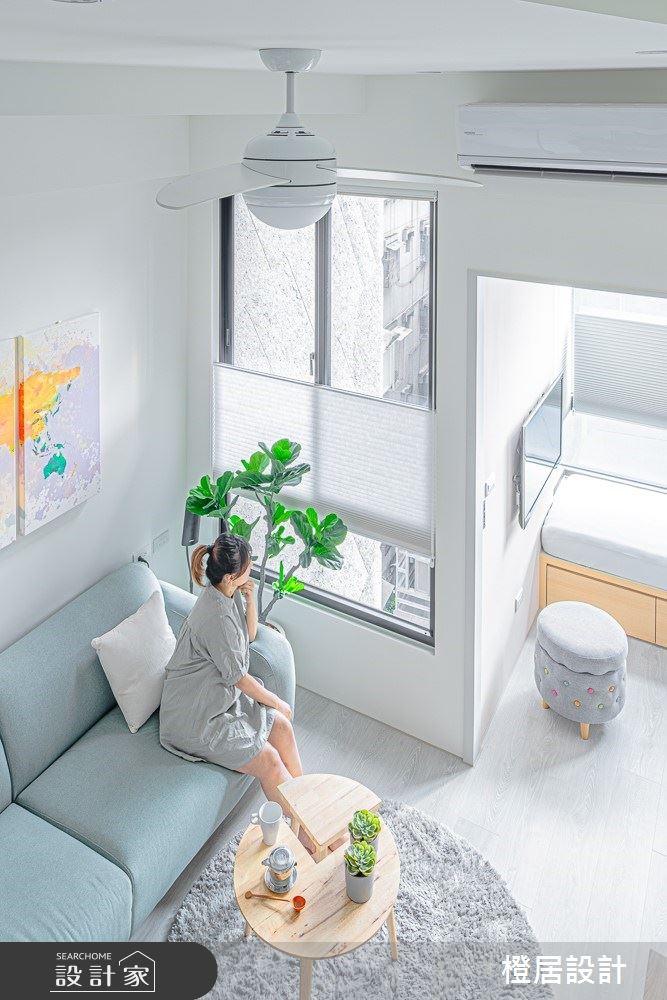 15坪新成屋(5年以下)_北歐風客廳案例圖片_橙居空間設計有限公司_橙居_09之7