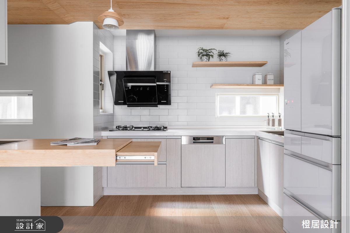 60坪老屋(16~30年)_北歐風廚房案例圖片_橙居空間設計有限公司_橙居_15之13