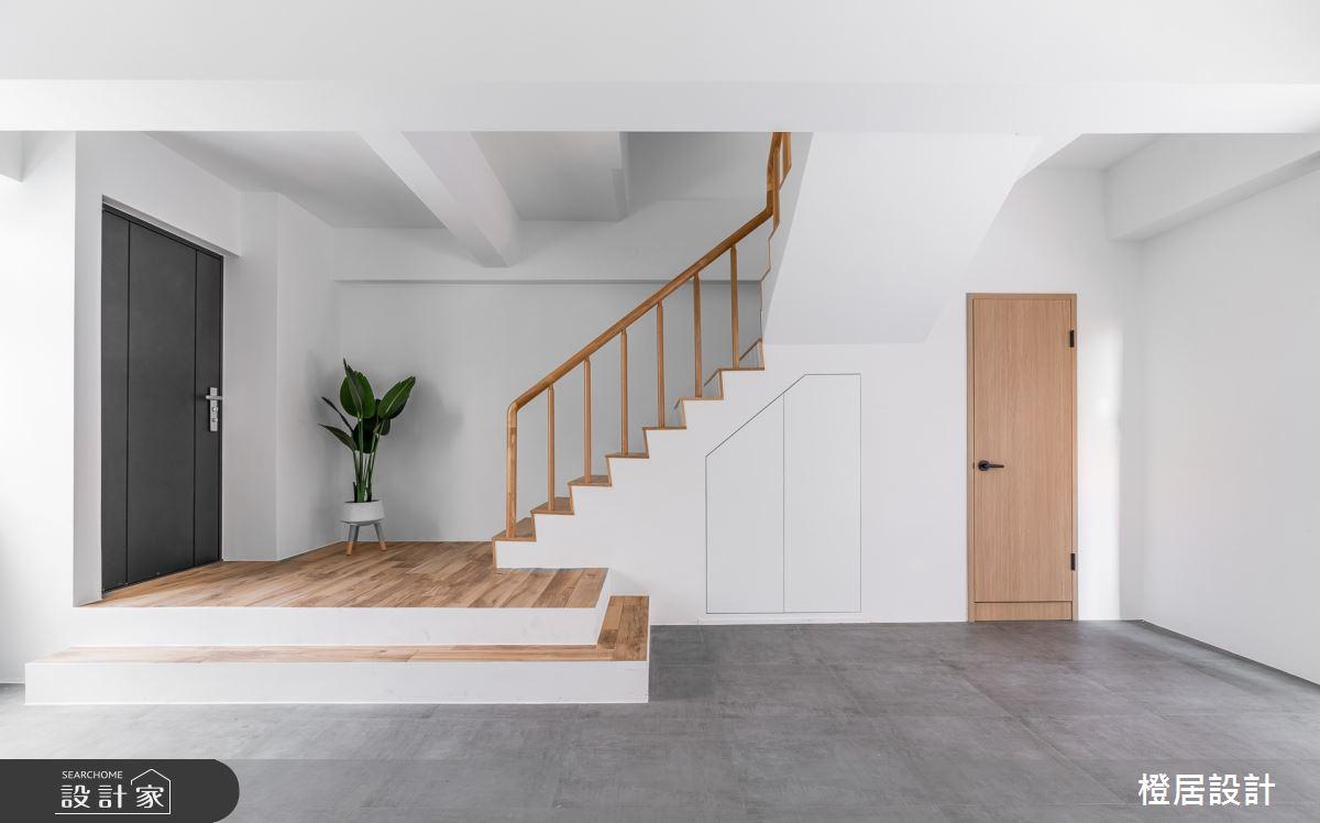60坪老屋(16~30年)_北歐風玄關樓梯案例圖片_橙居空間設計有限公司_橙居_15之2
