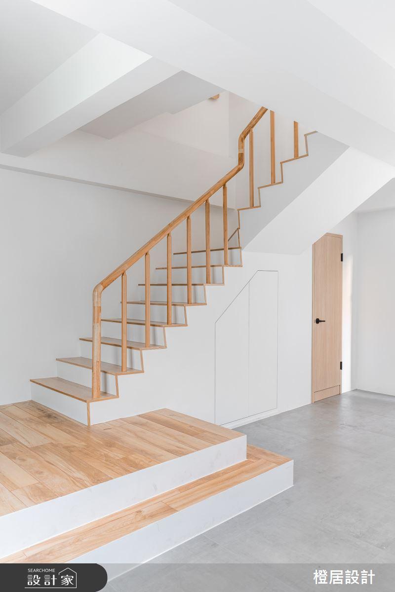 60坪老屋(16~30年)_北歐風玄關樓梯案例圖片_橙居空間設計有限公司_橙居_15之3