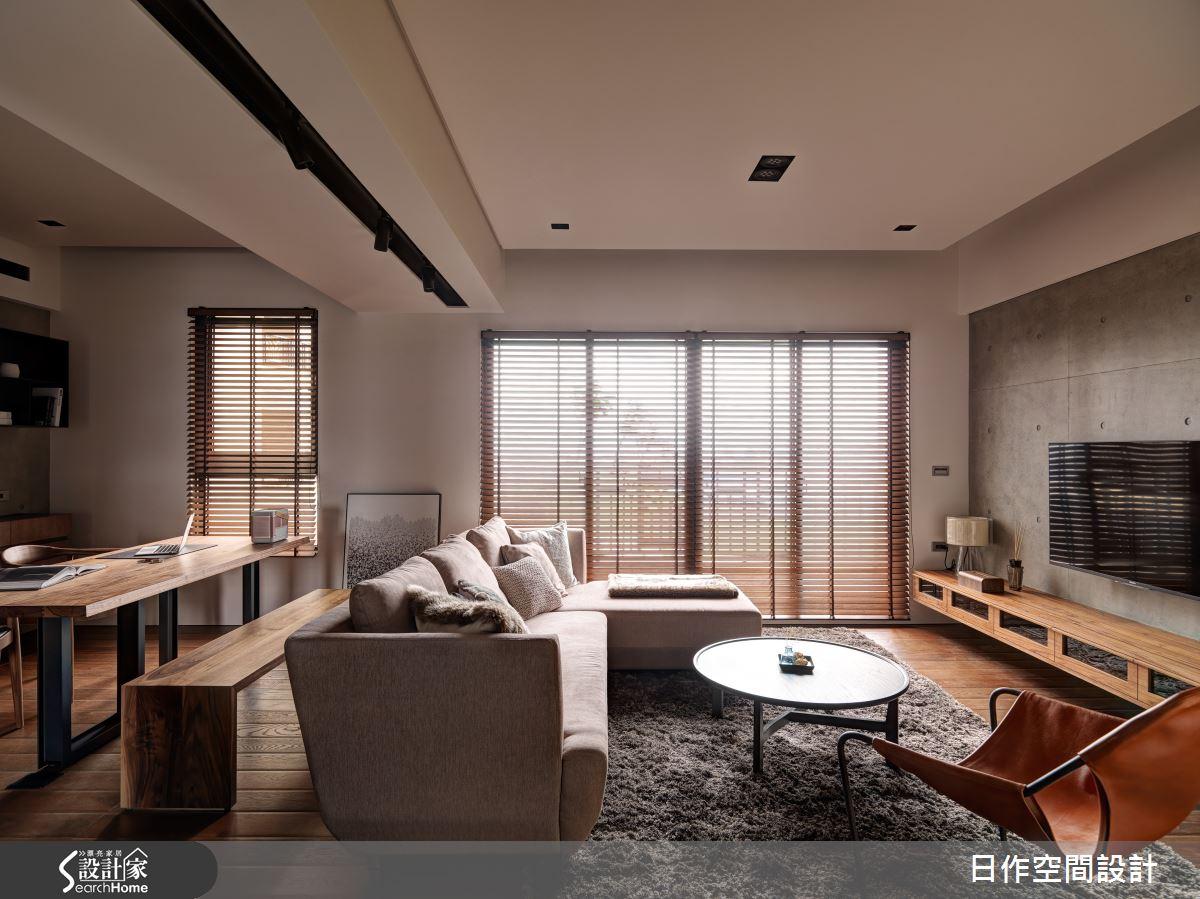 三代同堂的溫潤悠然 由 35 坪木感現代居宅全數承載