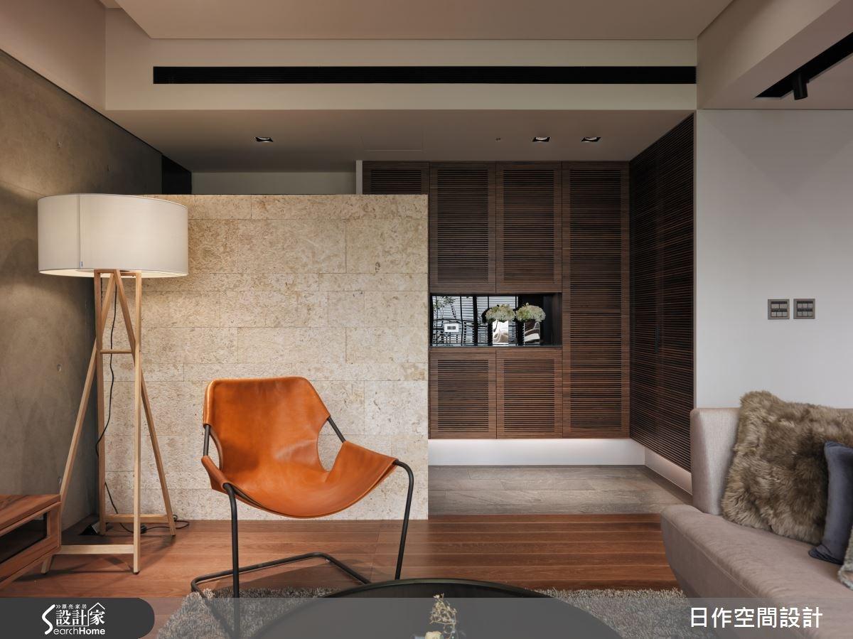 35坪新成屋(5年以下)_現代風玄關客廳案例圖片_日作空間設計有限公司_日作_01之4