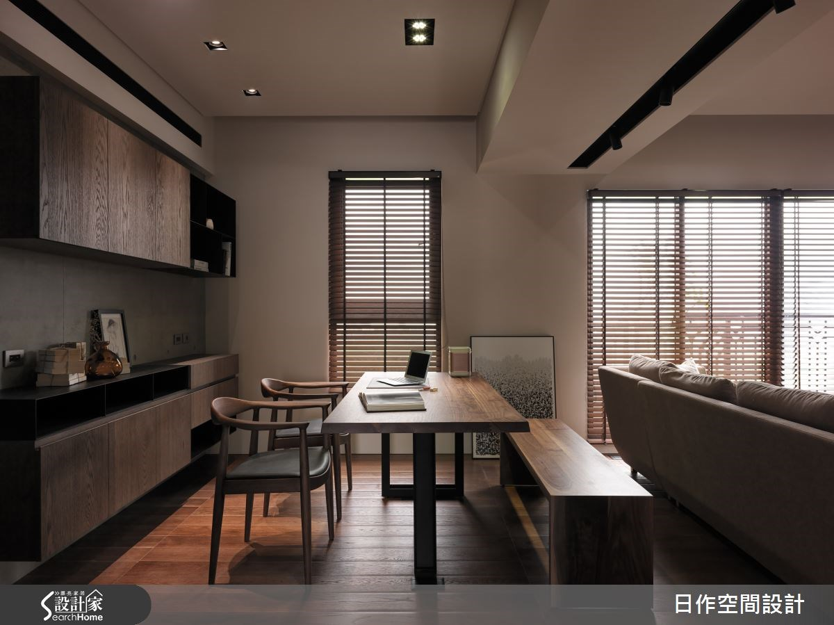 35坪新成屋(5年以下)_現代風書房案例圖片_日作空間設計有限公司_日作_01之8