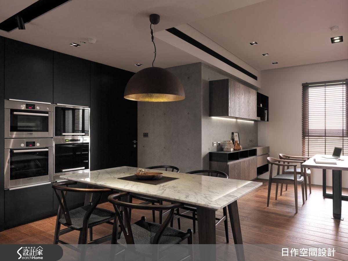 35坪新成屋(5年以下)_現代風餐廳案例圖片_日作空間設計有限公司_日作_01之13
