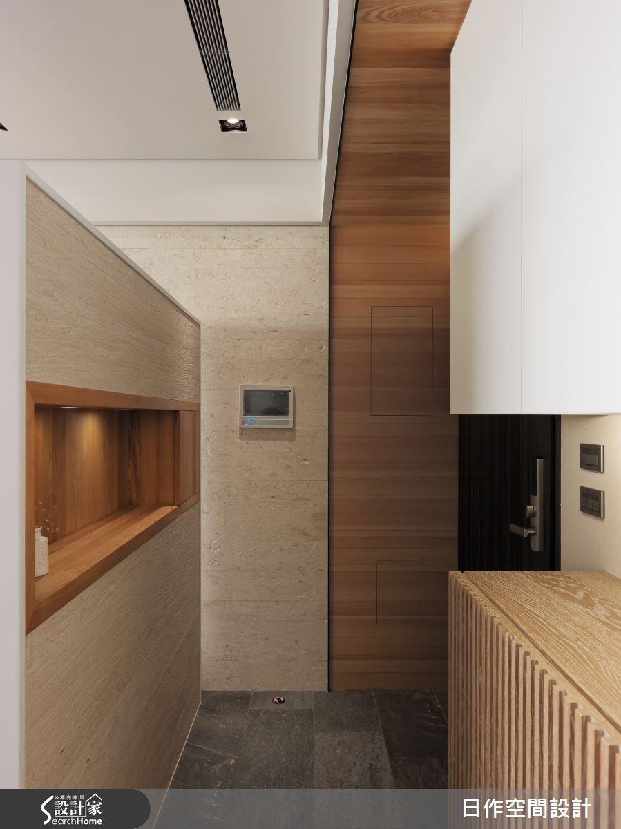 35坪新成屋(5年以下)_現代風玄關案例圖片_日作空間設計有限公司_日作_02之1