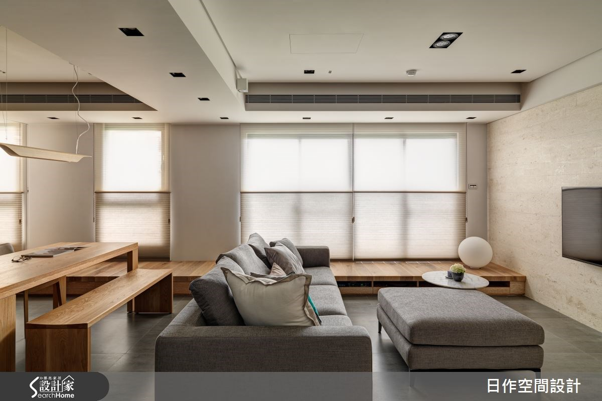 35坪新成屋(5年以下)_現代風客廳臥榻案例圖片_日作空間設計有限公司_日作_02之5