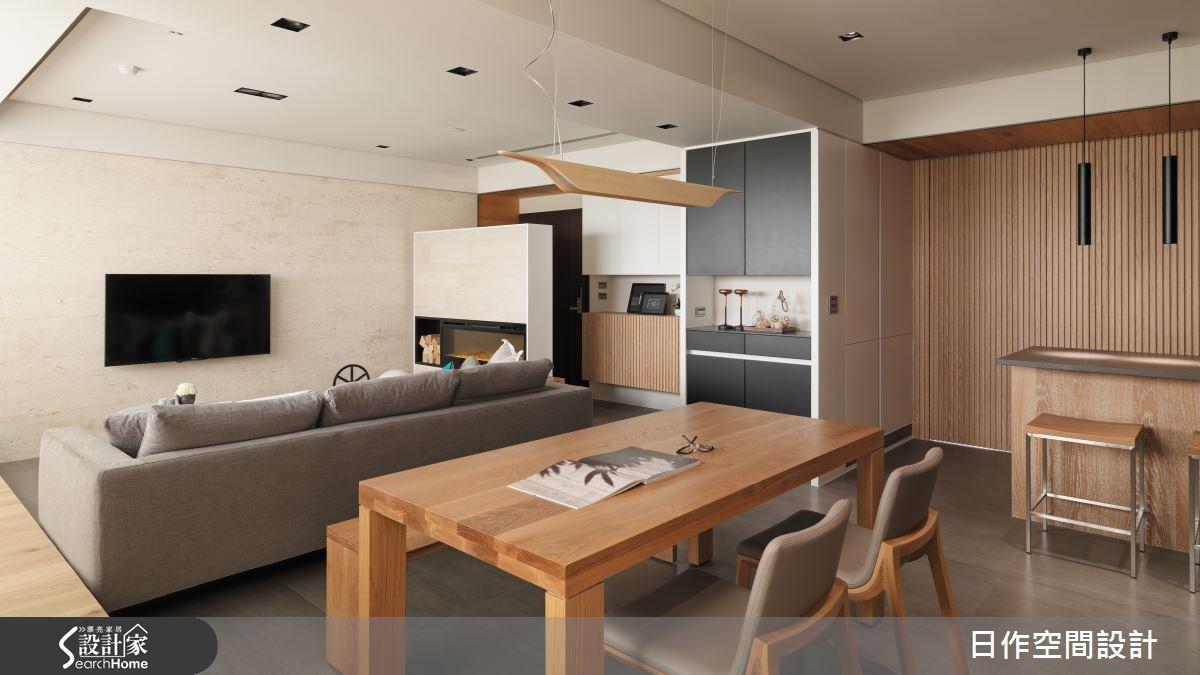 35坪新成屋(5年以下)_現代風客廳書房案例圖片_日作空間設計有限公司_日作_02之9
