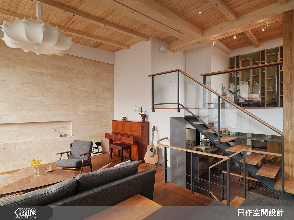 室內若空間不大,樓梯建議盡量使用透明材質或鏤空設計,簡單的鐵件加上木作就十分的具有質感。