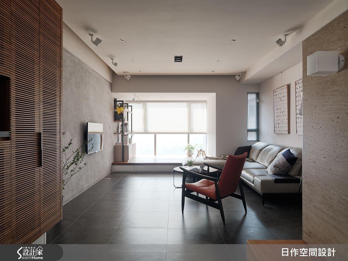 32坪中古屋(5~15年)_簡約風客廳案例圖片_日作空間設計有限公司_日作_05之4