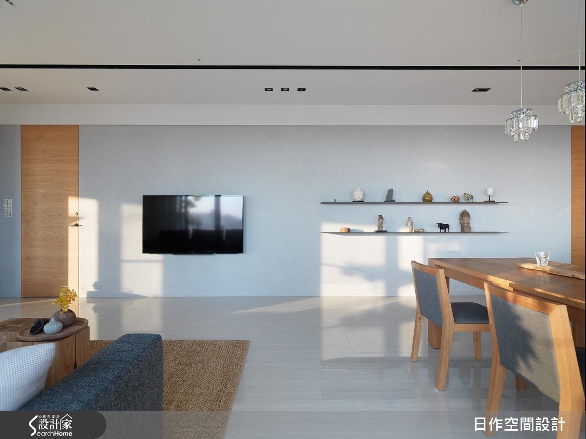 42坪新成屋(5年以下)_休閒風客廳餐廳案例圖片_日作空間設計有限公司_日作_11之1