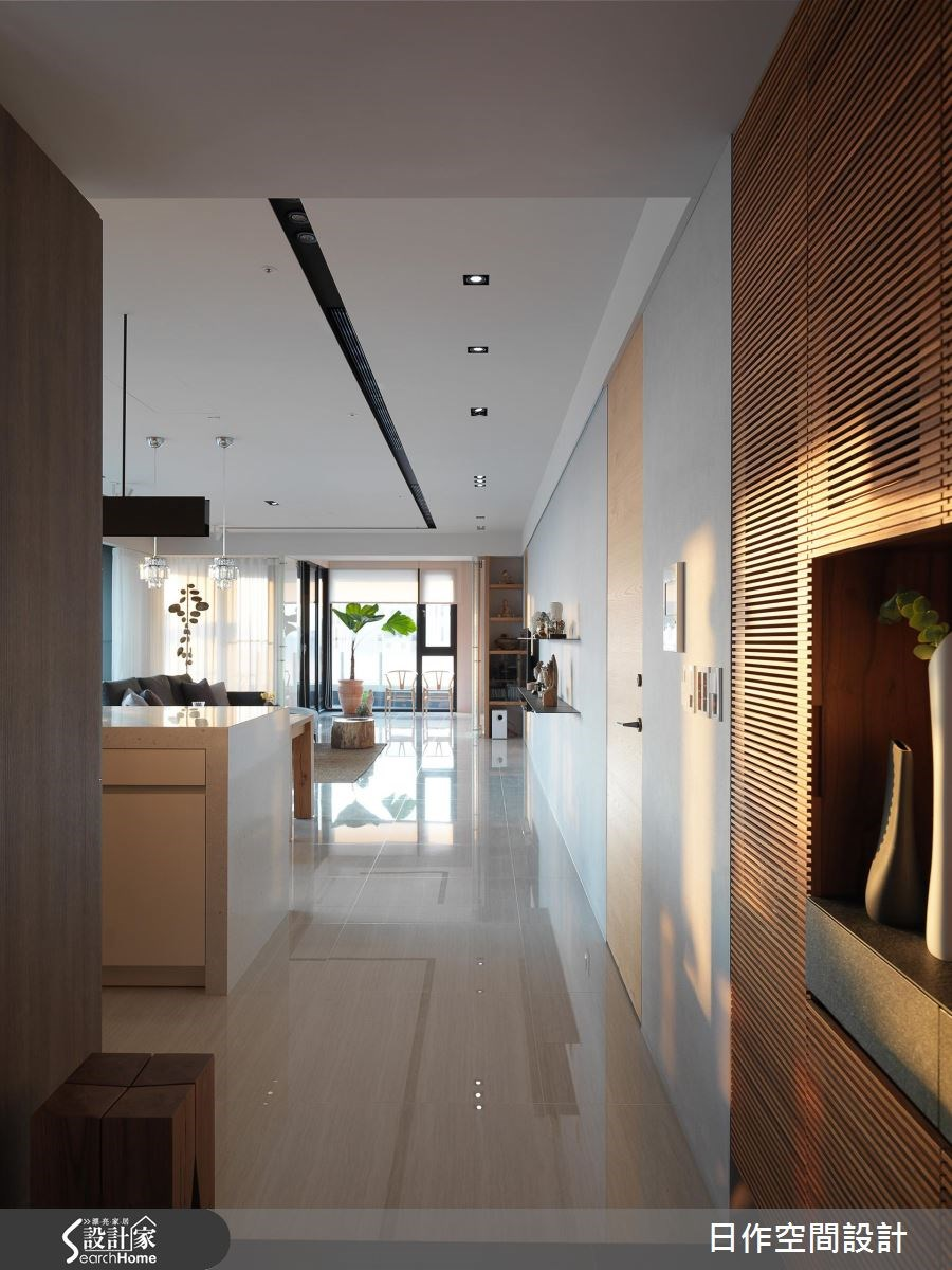 42坪新成屋(5年以下)_休閒風走廊案例圖片_日作空間設計有限公司_日作_11之2