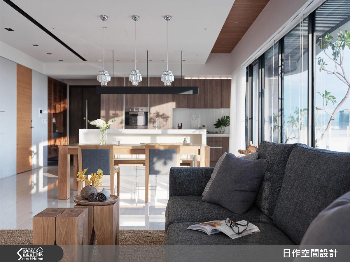 42坪新成屋(5年以下)_休閒風客廳餐廳廚房吧檯案例圖片_日作空間設計有限公司_日作_11之4