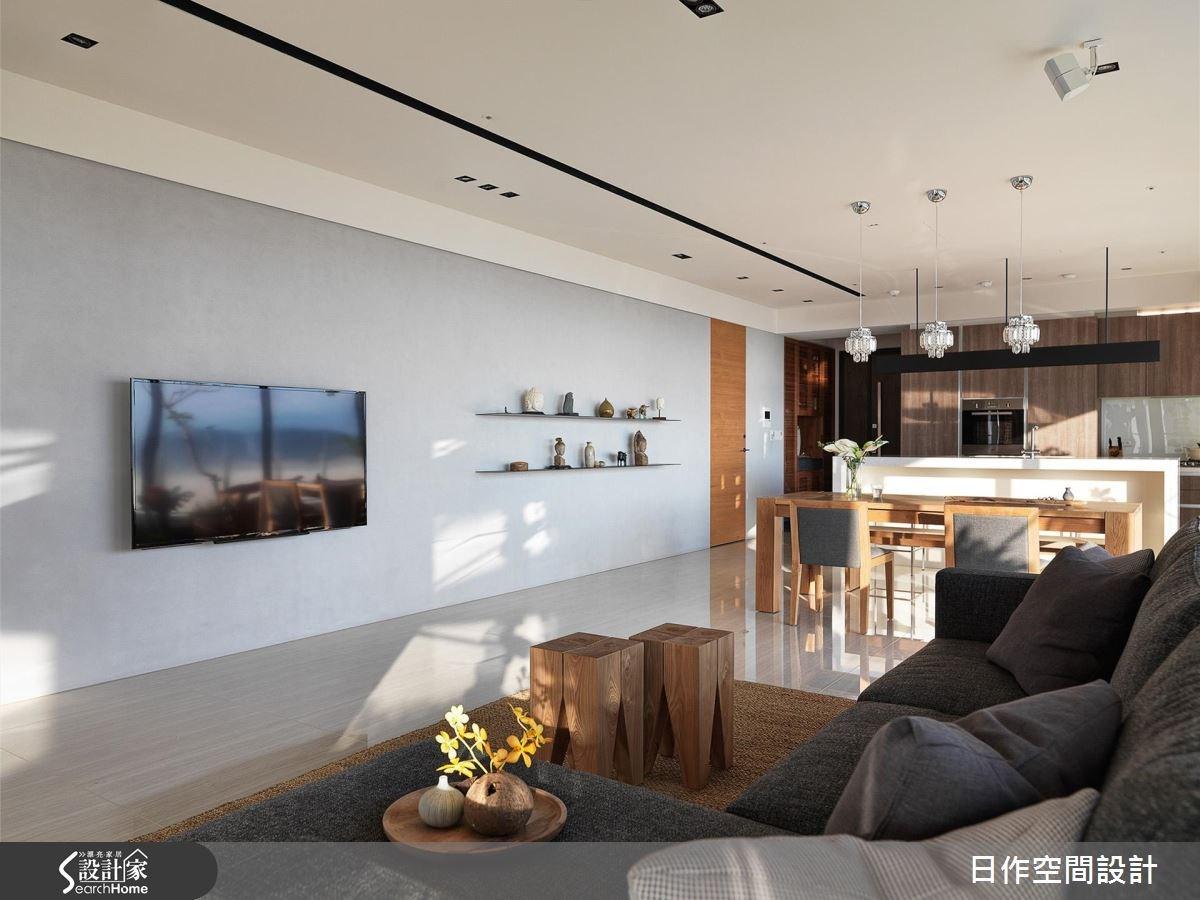 42坪新成屋(5年以下)_休閒風客廳餐廳廚房案例圖片_日作空間設計有限公司_日作_11之5