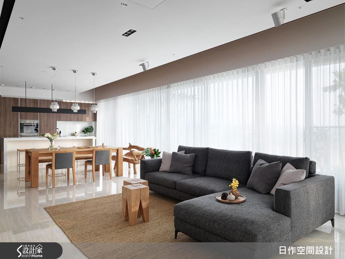 42坪新成屋(5年以下)_休閒風客廳餐廳廚房吧檯案例圖片_日作空間設計有限公司_日作_11之6