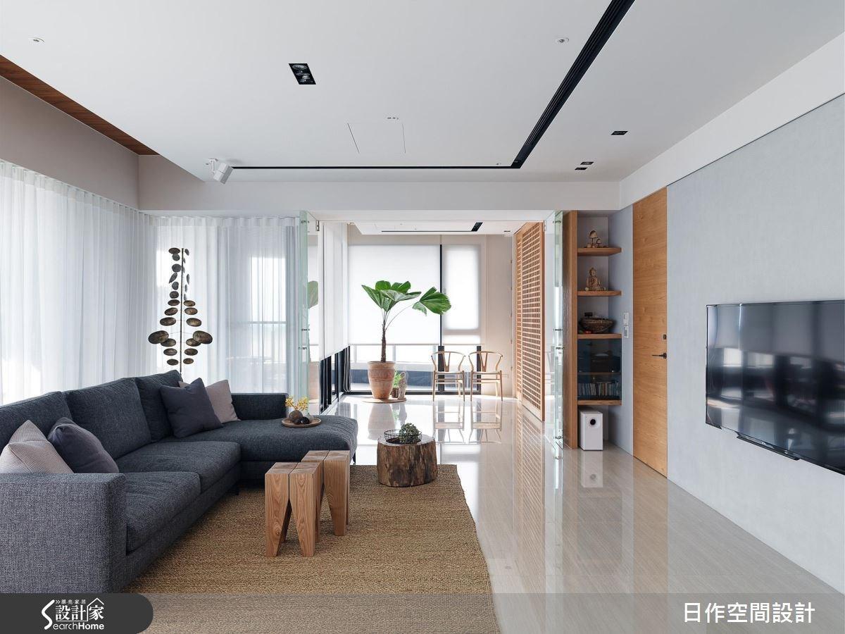 42坪新成屋(5年以下)_休閒風客廳案例圖片_日作空間設計有限公司_日作_11之9