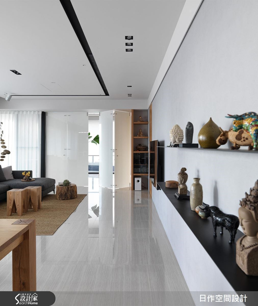 42坪新成屋(5年以下)_休閒風客廳案例圖片_日作空間設計有限公司_日作_11之15