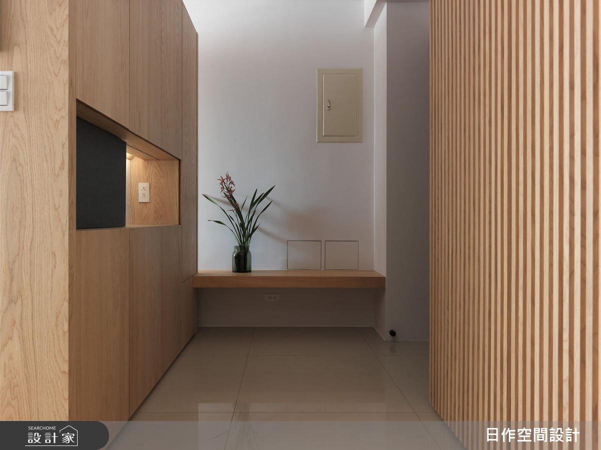 30坪新成屋(5年以下)_簡約風玄關案例圖片_日作空間設計有限公司_日作_16之1
