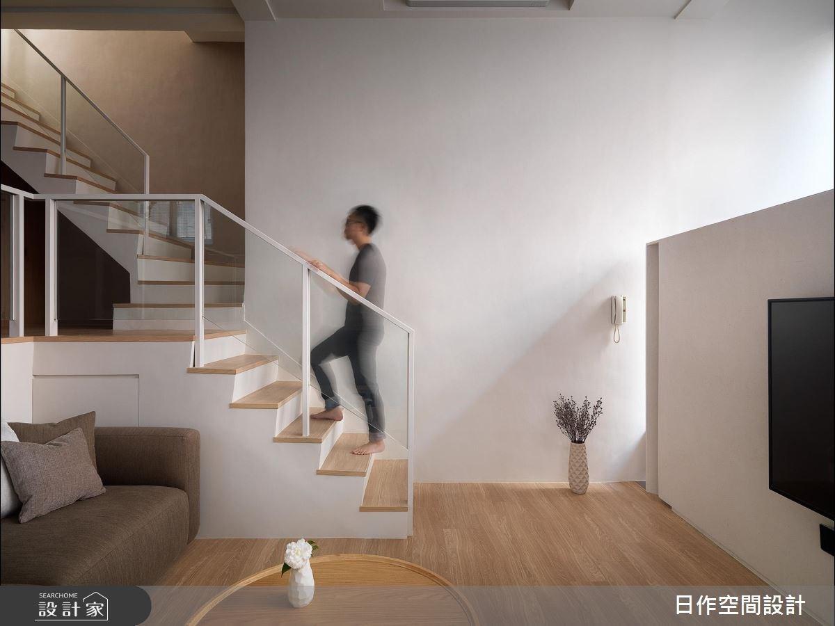 40坪老屋(16~30年)_簡約風客廳樓梯案例圖片_日作空間設計有限公司_日作_17之1