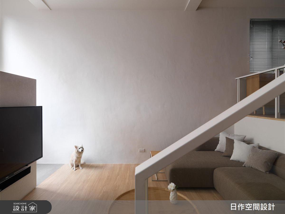 40坪老屋(16~30年)_簡約風客廳寵物案例圖片_日作空間設計有限公司_日作_17之2