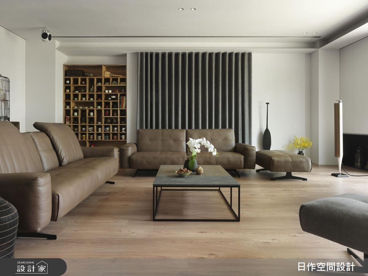 150坪新成屋(5年以下)_新中式風客廳案例圖片_日作空間設計有限公司_日作_19之2
