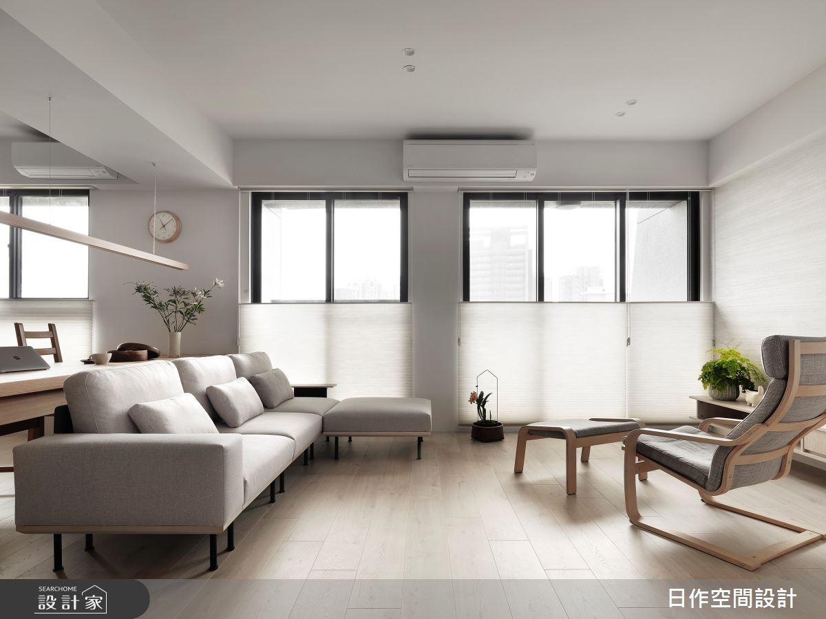 35坪新成屋(5年以下)_簡約風客廳案例圖片_日作空間設計有限公司_日作_40之3