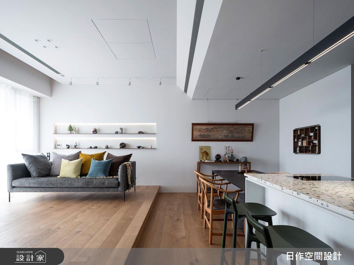 35坪新成屋(5年以下)_新中式風客廳餐廳案例圖片_日作空間設計有限公司_日作_30之4