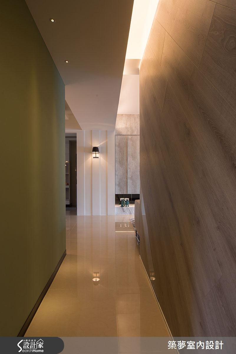 45坪新成屋(5年以下)_人文禪風走廊案例圖片_築夢室內設計_築夢_02之1